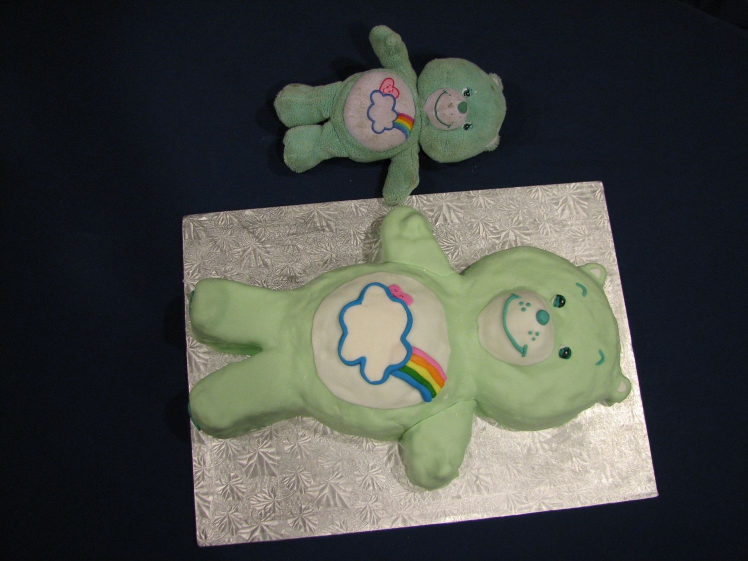 Katie's Care Bear My first attempt at cake carving. I was really pleased with the result. So was my daughter. She loved it. The cake matches her favourite...