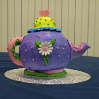 Teapot Cake Here is my attempt at a teapot cake. My friend wanted me to make it to match a napkin she had. It was close to the picture. I made the...