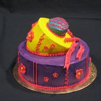 Lauren's Hip Hop Cake -- 2Nd View A picture of the side of Lauren's cake.
