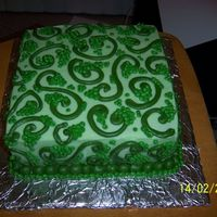 Green Moss Cake I did this for a friend just for the heck of it. It reminds me of green moss/ vines or green grapes on a vine.