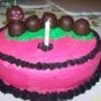 Choc Covered Cherries Catapillar Cake Child's First Birthday Personal Cake To Eat! Mother found a catapillar in bright basic color and wanted it in pink and black for the one year old's birthday. We took choc covered...