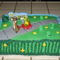 Over The Hedge I did this cake for my son's 3rd Birthday party!