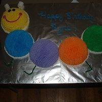 Baby Einstein Chocolate cake with chocolate ganache filling and buttercream icing.