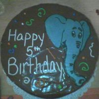 Elephant Cake Made for a Safari themed birthday party. Elephant was a FBCT