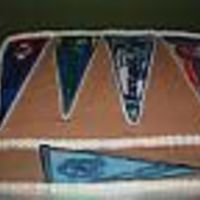 Pennant Flags Cake was made for sports fanatic who was turning 50. The first time I made a cake using FBCT--There were a lot of mistakes but he was still...