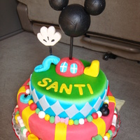 Mickey Mouse Clubhouse Have lots of fun doing this cake! the b-day boy loved it so everyone at the party. I was very happy with the final look of the cake.