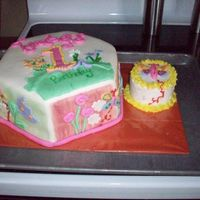 Tymber's 1St Birthday fondant cake with smash cake