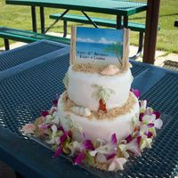 Luau Hawaiian themed birthday cake