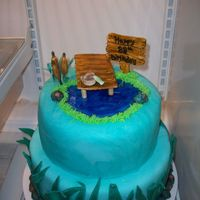 Gone Fishin' Fishing themed cake