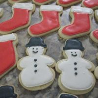 Christmas Cookies This is my first attempt at decorating cookies. Lots of mistakes, but not too bad for my first try. Sugar cookie w/ RI.