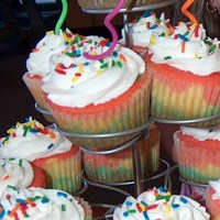 Rainbow Cupcakes DD specifically requested rainbow cupcakes for her 5th bday. I used white cake batter, colored it, layered it in cupcake wrappers, then...