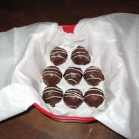 Cake Balls YUMMY! Chocolate cake, coffee, and dipped in chocolate. I made a bunch as Christmas gifts. They are always a huge hit.