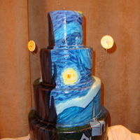 Starry Night Inspired This was my first time ever painting on a cake. It was a challenge but I was pleased with the result. I had alot of fun making this cake!!...