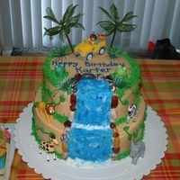 Go Diego Go Cake Diego cake for my friend's son - hoping to learn how to make sugar figurines one of these days. Everyone loved the cake though!