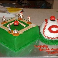 Reds Birthday Cake Reds baseball cake for boy's bday - all buttercream some fondant accents