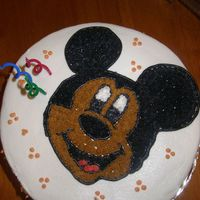 My 2Nd Cake. this one was for my son's 3rd birthday. He wanted Mickey mouse so I made him mickey. I made my first and second cake both at the same...