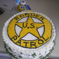 U.s Border Patrol My third cake. I was working on getting my buttercream smooth and my basketweave.