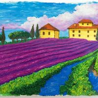 Lavender Field's Painting Another one of my buttercream paintings. Inspired by some pictures of lavender fields I saw at the art festival in Ft Worth. I was in the...