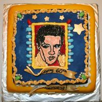 Elvis Birthday Cake  This was my most fun cake I've ever done. Also the most elaborate. Lots of detail. Chocolate cake filled with ganache and choc....