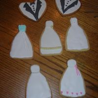 More Wedding Cookies Made these as samples for 2 brides to pick from