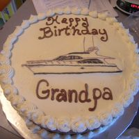 Hatteras Birthday Cake for my Dad, FBCT