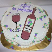 Aged To Perfection Wine Bottle Cake I made this cake for my boss, who is a wine lover. Her name is Marie, born in 1956 in Wisconsin. The Wine bottle and glass are FBCT. I had...