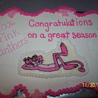 "Pink Panther Cupcake Cake I made this cupcake cake for a friend at work. Her daughter is on a girl's baseball team and they were the ""Pink Panthers""...."