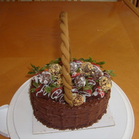 Strawberry And Truffles Basket Cake.
