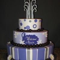 Baby Shower Customer liked this cake design by Pink Cake Box, but color theme was changed. Hope you like it.