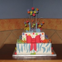 Sweet 16 Buttercream iced cake -- customer provided a similar picture and requested this design. Thanks for looking.