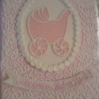 Welcome Baby Girl!   A cake for a girl at work..