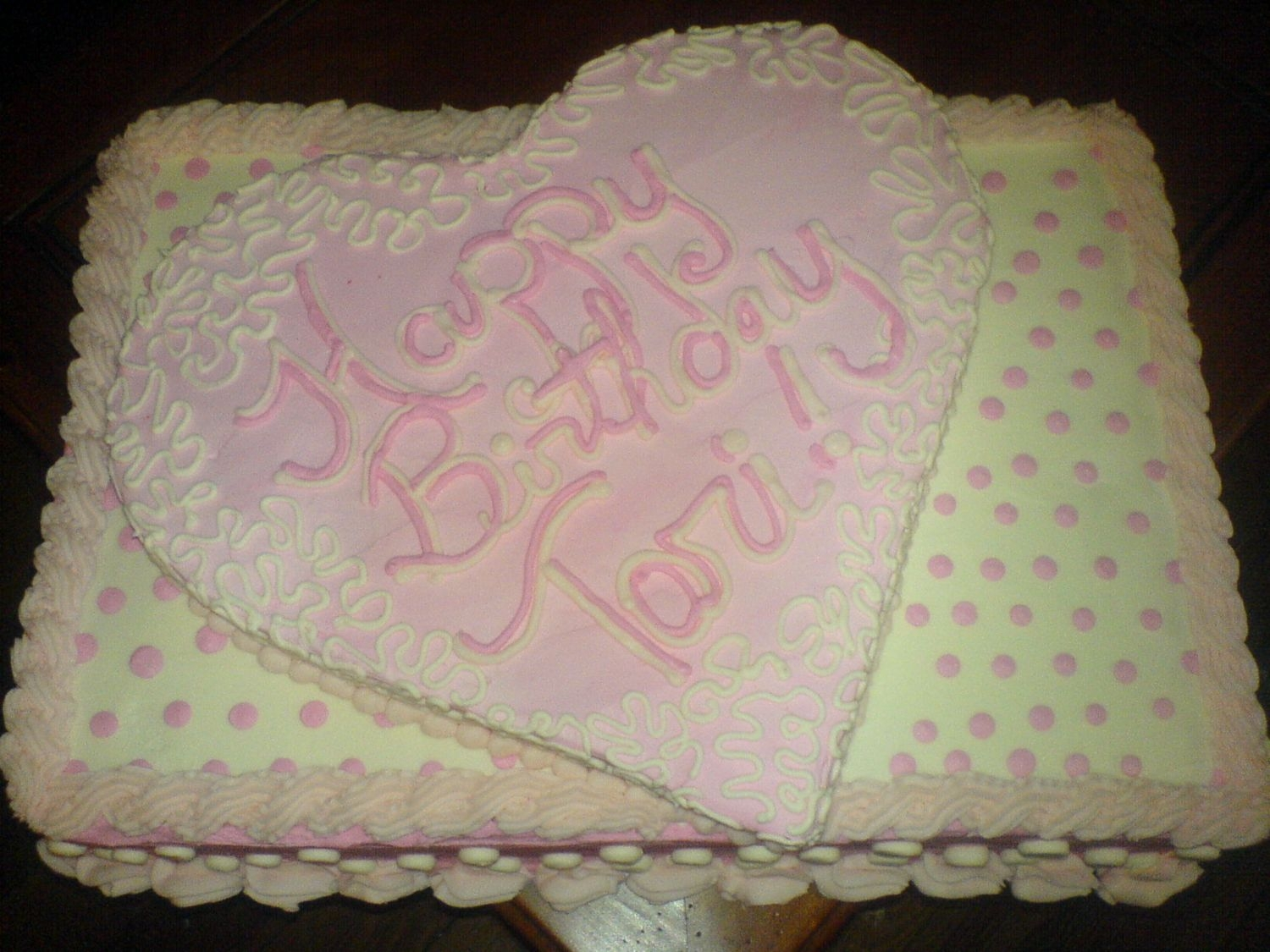 Birthday Cake This is for a girl turning 13. It is two 12x18's with a heart on top! Thanks for looking!!!