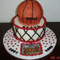 Youth Basketball Team Cake Wilton Ball Pan. ½ WC IMBC â ½ Crusting Buttercream mix. I tried to make the bottom...