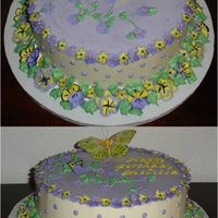 Pansies And Violets WASC without the Almond. Used vanilla instead. Strawberry Filling. Used my new FMM Tappits for the lettering. Need more practice. WC IMBC....