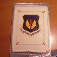 Security Forces Cake This was the last cake I made for the USAFE Security Forces Convention at Ramstein, Germany. It was an 11x15 cake with an edible image.