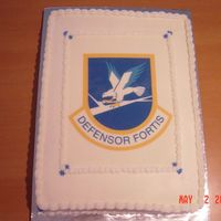 Air Force Security Forces Cake   I made this cake for the USAFE Security Forces Converence in Ramstein, Germany. It was an 11x15 cake with an edible image.