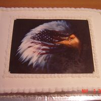 Air Force Securiy Forces   This was another cake I made for the USAFE Security Forces Convention at Ramstein, Germany. It was an 11x15 cake with an edible image.