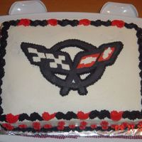 Corvette Cake  I made this cake for my parent's Corvette Club picnic. We had lots of problems with this cake. My mother baked the cake for me and the...