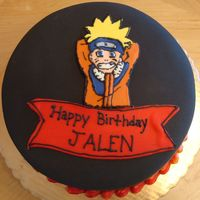 Naruto Cake My newphew asked me to make this cake for his birthday. I wasn't really happy with the way it turned out. I will be the first to admit...