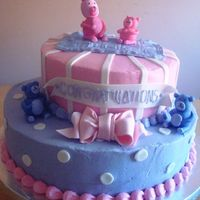 Another Teddy Cake For Baby Shower I did this cake one day after I did a very similar cake for a teddy bear baby shower cake. The only difference is this one was covered in...