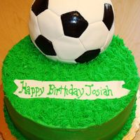 First Soccer Ball Cake This was my first time trying a soccer ball cake. It was so difficult for me to line up all the shapes so that it looked like an actually...