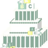 Bears And Blocks Computer Drawing This is a computer drawing (I can't sketch worth a bean) of a baby shower cake I'm doing. Thank you for looking!