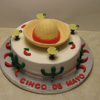 Cinco De Mayo From the Wilton yearbook. Thanks to mjs4492 for some advice. White cake with Bavarian cream filling.