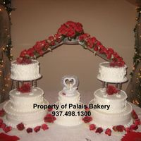 8 Tier Red Rose