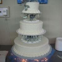 Icy Winter 4 tier Icy look winter wedding