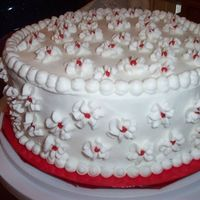 Tiered Christmas Cake This is the bottom of a 2-tier cake made for a family Christmas party.