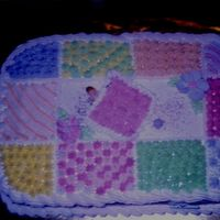 Quilt Baby Shower   I made this cake for a friend at church.