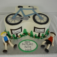 Seattle To Portland Birthday cake for a set of twins who do a bike race every year from Seattle to Portland. Chocolate cake with raspberry filling and vanilla...