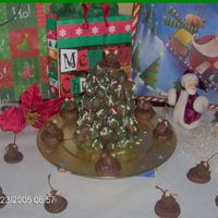 Cake Ball Christmas Tree And Chocolate Mice