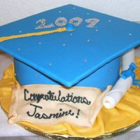 Blinged Out Graduation Cake This cake was inspired by the Pink Cake Box graduation cake. Customer wanted cake to represent the graduate better so she requested that it...